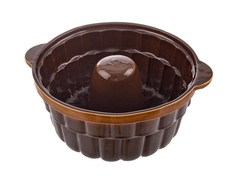 Forma na pečenie ORION Bábovka 24 cm keramika hnedá