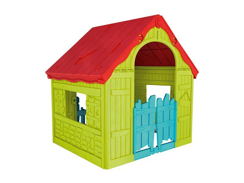 Detský domček KETER Wonderfold Playhouse Red/Green/Blue