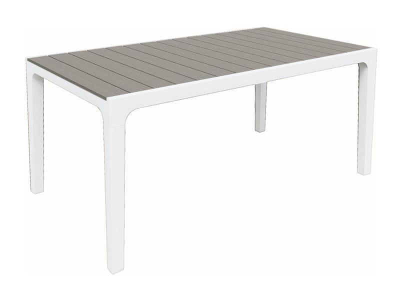 Stôl záhradný KETER Harmony White/Light Grey