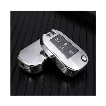 Obal na kľúče CITROEN C3/C4/C5/C6 Silver silikón