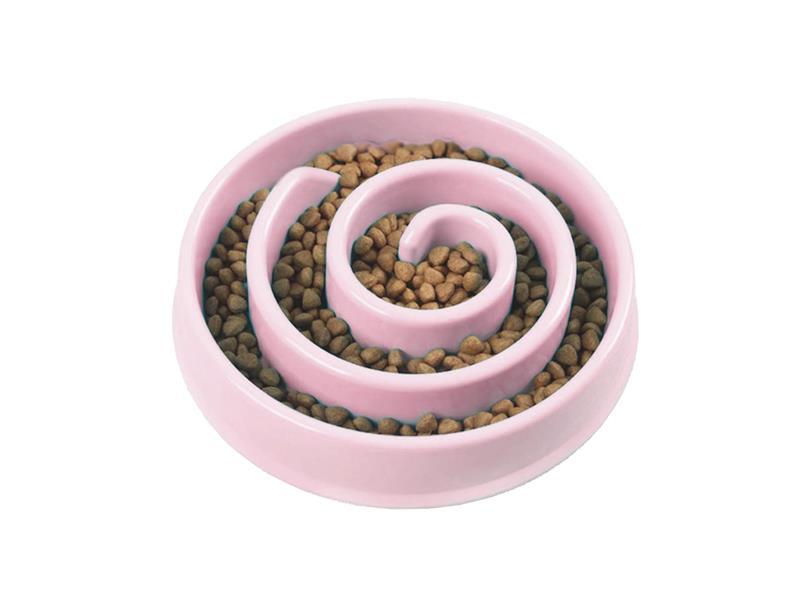 Miska pre psov 4L PINK pre pomalé kŕmenie