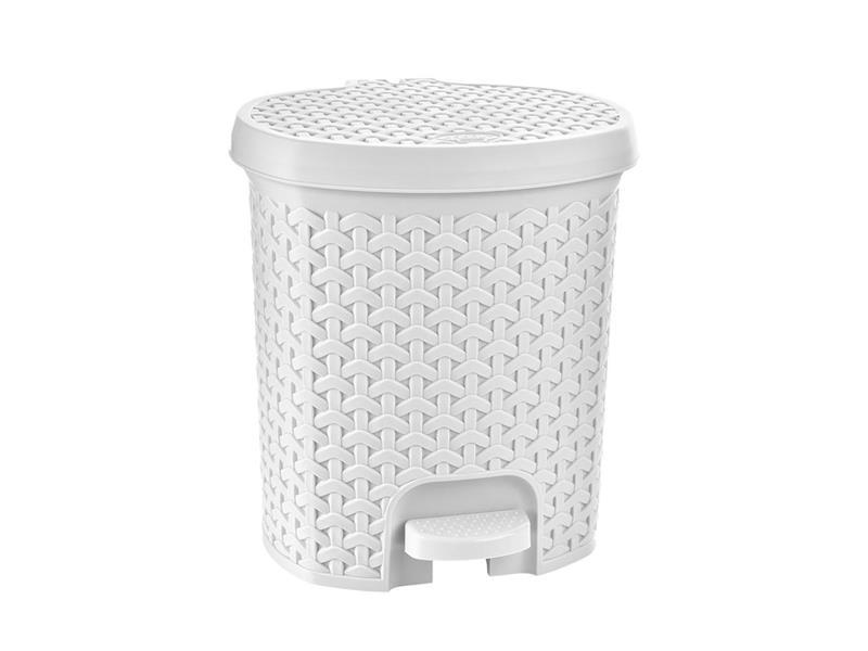 Kôš odpadkový ORION Ratan 11,5l biely