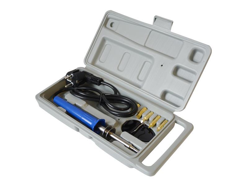 Spájakovacie / vypalovacie pero do dreva 30W s nástavci, 6 hrotov + box