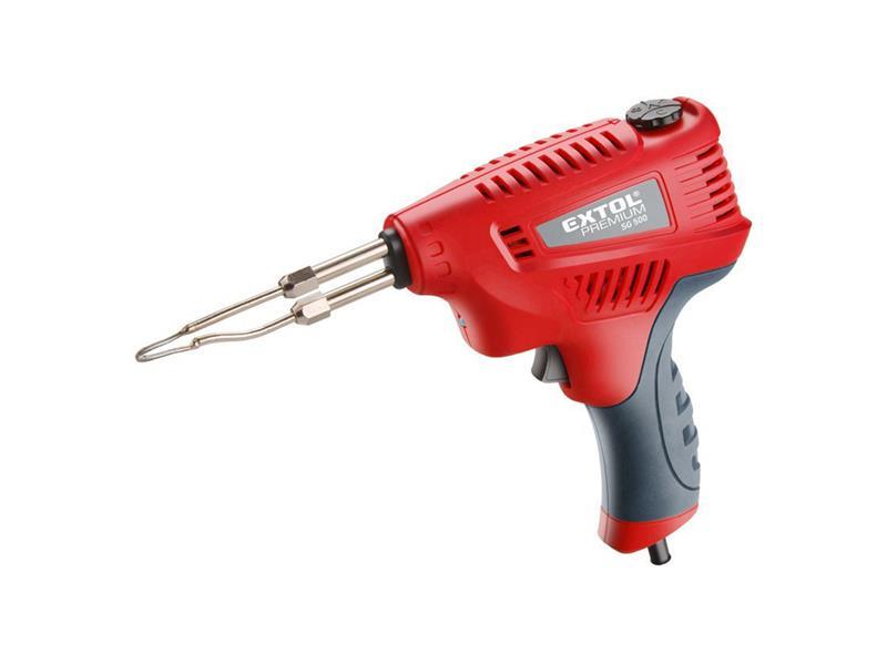 Pištoľ spájkovacia s reguláciou teploty, transformátorový, 200W, EXTOL PREMIUM 8894510