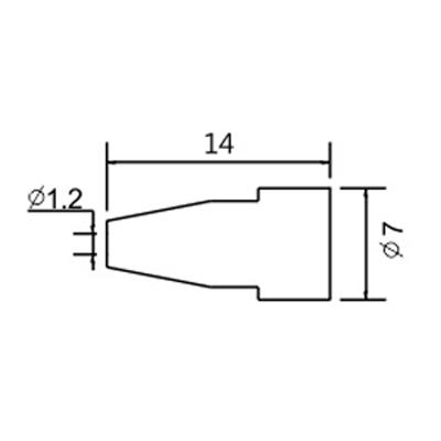 Hrot N5-7/ZD553 pr.1.2mm (ZD-8915)