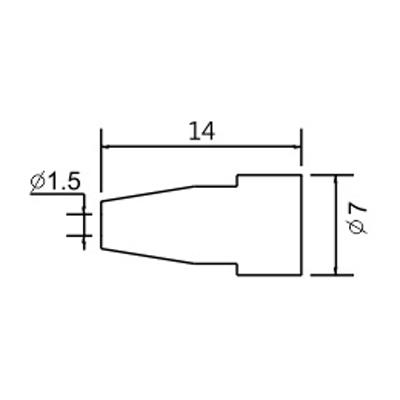 Hrot N5-8/ZD553 pr.1.5mm (ZD-8915)