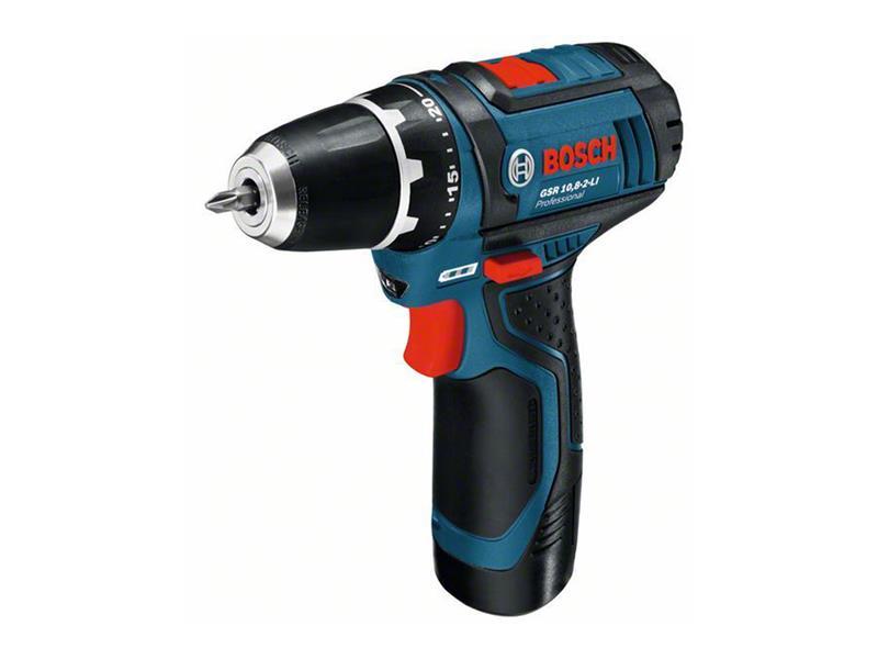 Šroubovák vrtací AKU Bosch GSR 12V-15 Professional - 2x AKU 2,0Ah, 0601868122