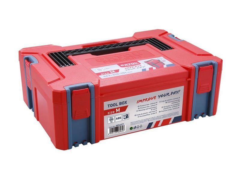 Box plastový, M veľkosť, rozmer 443x310x151mm, ABS, EXTOL PREMIUM EX8856071