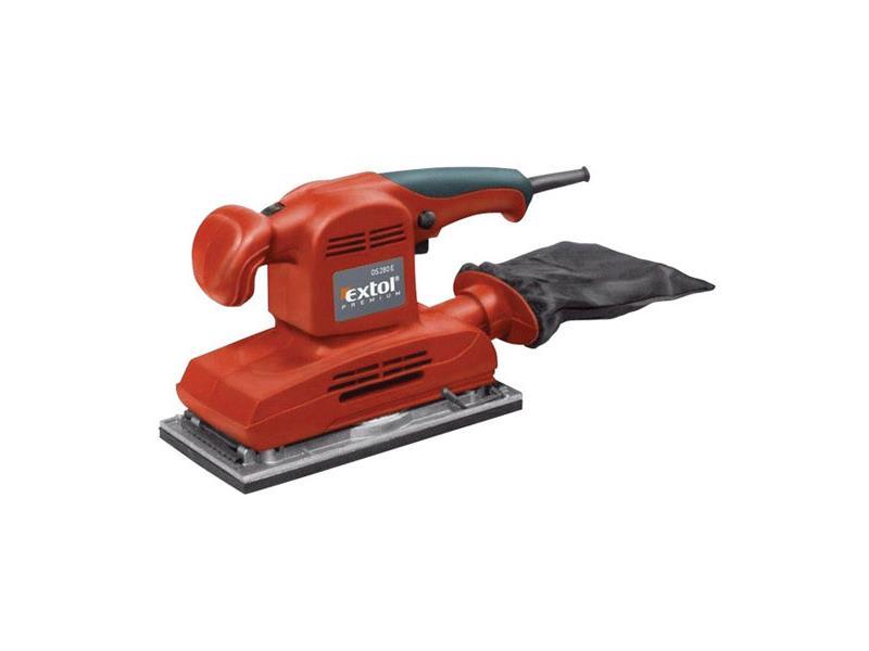 Brúska vibračná OS 280 E, príkon 280W, kufor, EXTOL PREMIUM, OS 280 E, 8894001