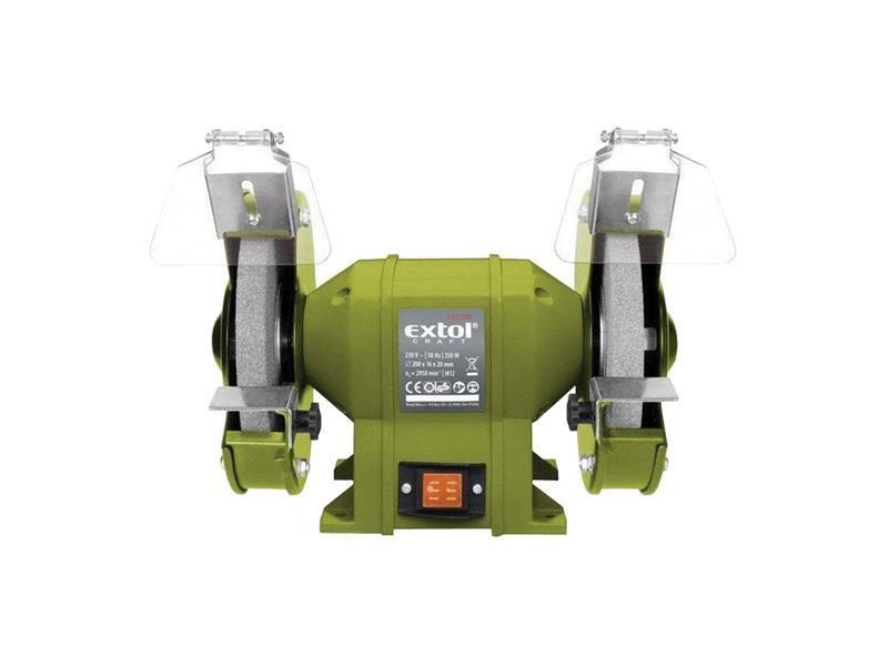 Brúska dvojkotúčová, príkon 350W, priemer kotúča/diery 200/16mm, šírka 20mm EXTOL CRAFT