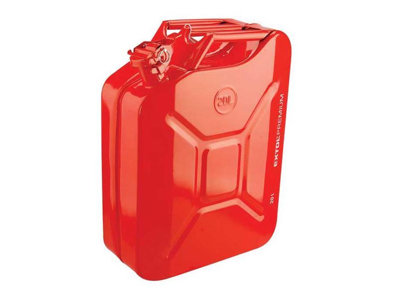 Kanister oceľový na benzín 20l EXTOL PREMIUM 8863200