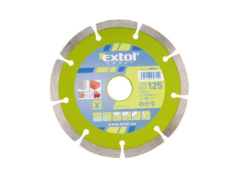 Kotúč diamantový rezný segmentový 230mm EXTOL CRAFT 108815