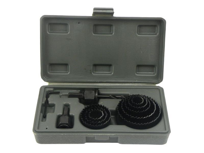 Vrtáky vykružovací korunkové, sada 11ks, max. hloubka vrtu 25mm, 19-64mm, GEKO