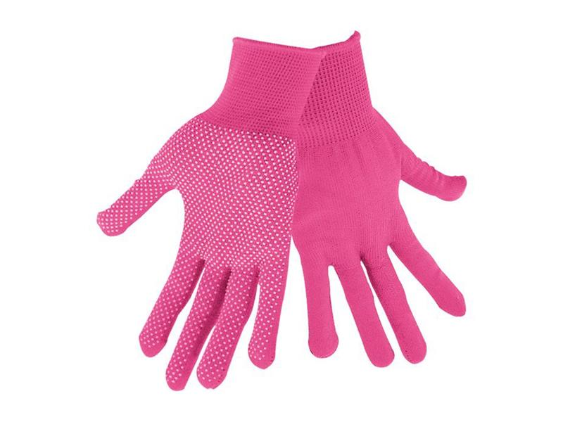 """Rukavice z polyesteru s PVC terčíkmi na dlani, veľkosť 7 """"EXTOL LADY EX99719"""