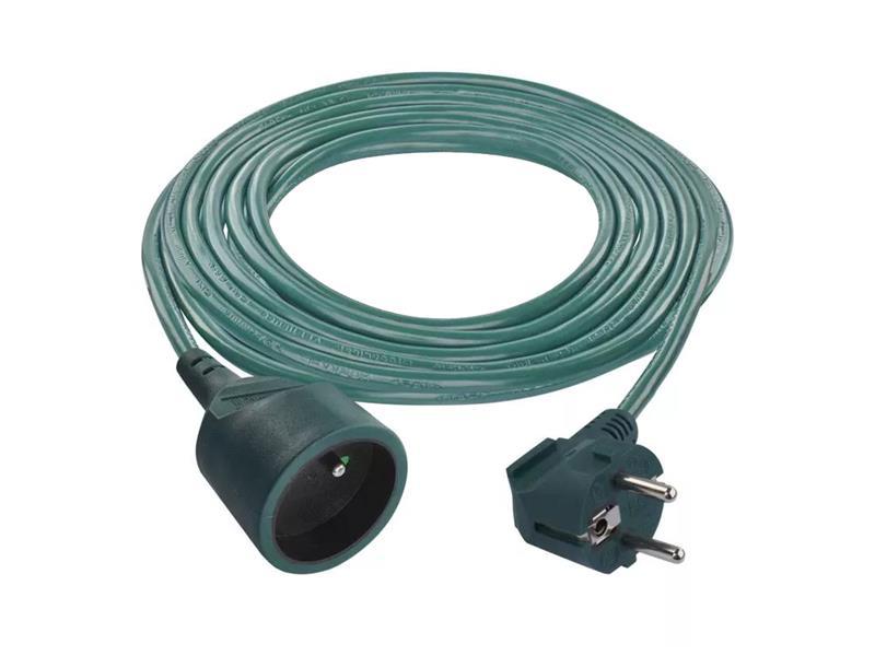 Predlžovací prívod 1 zásuvka 5 m spojka zelená