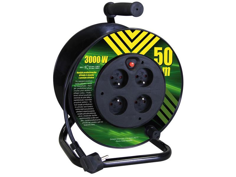 Predlžovací kábel na bubne - 4 zásuvky 50m EMOS P19450P