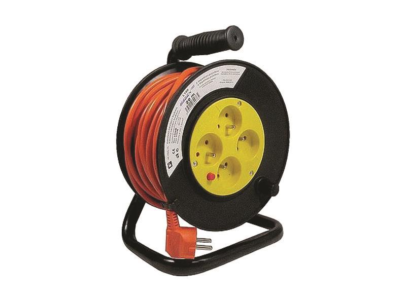 Predlžovací kábel na bubne - 4 zásuvky 20m HADEX L190