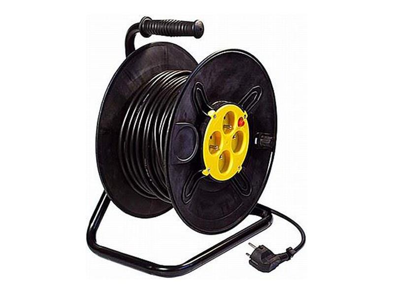 Predlžovací kábel na bubne - 4 zásuvky 50m HADEX L194