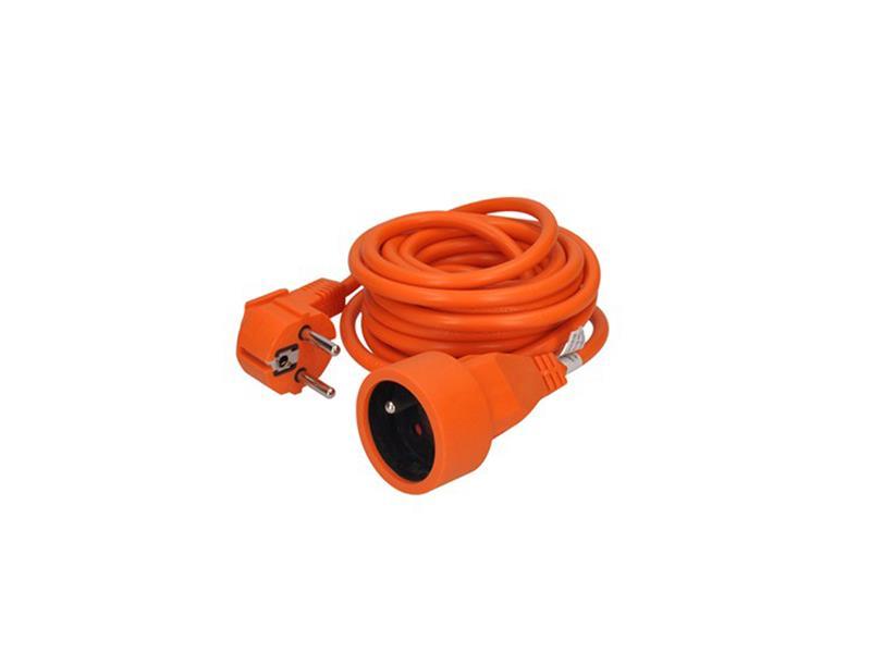 Prodlužovací kabel - spojka, 1 zásuvka, oranžová, 5m