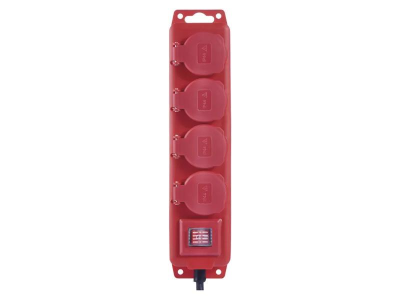 Predlžovací kábel gumový EMOS P14151, 4 zásuvky, 5m, 1,5mm2, IP44