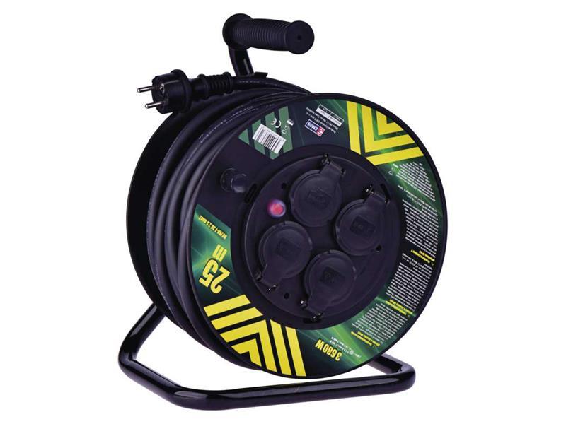 Predlžovací kábel na bubne - 4 zásuvky 25m EMOS P084253
