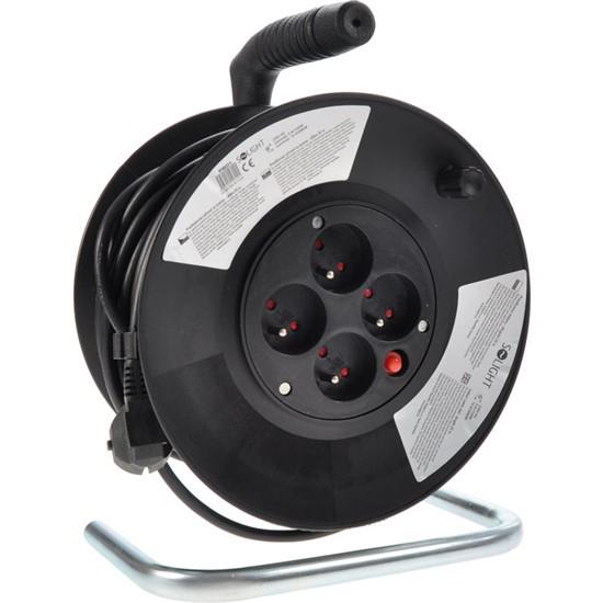 Predlžovací kábel na bubne - 4 zásuvky 25m Solight PB01