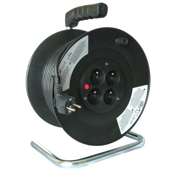 Predlžovací kábel na bubne - 4 zásuvky 50m Solight PB02