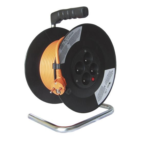 Predlžovací kábel na bubne - 4 zásuvky 20m Solight PB09