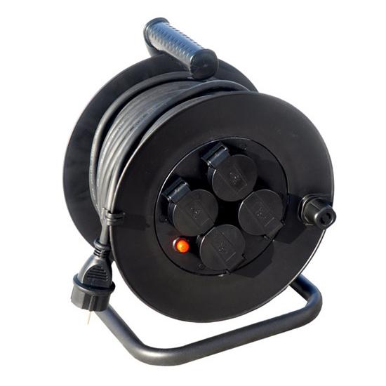 Predlžovací kábel na bubne - 4 zásuvky 25m Solight PB33