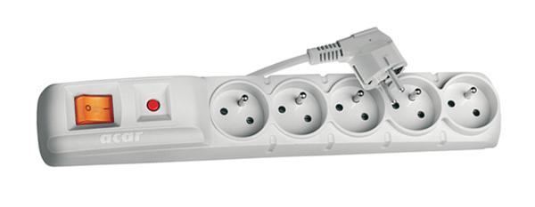 Prepäťová ochrana 5 zásuviek 1,5m F5