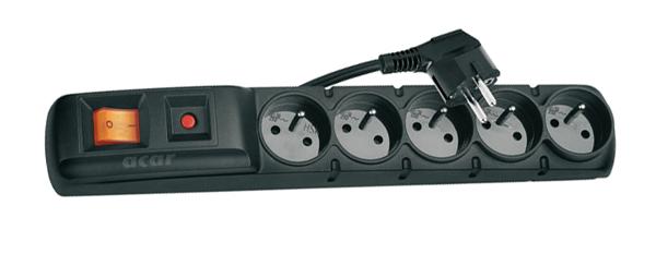 Prepäťová ochrana 5 zásuviek 3m F5.