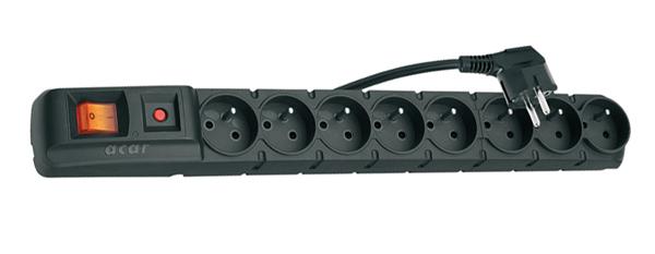 Prepäťová ochrana 8 zásuviek 1,5m S8
