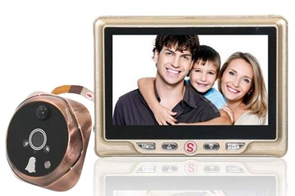 Dverové digitálny kukátko VN-4302 so záznamom a detekciou pohybu - kamera s LCD monitorom