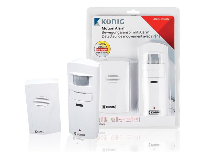 Alarm/zvonček + bezdrôtové pohybové čidlo KÖNIG SAS-APW10