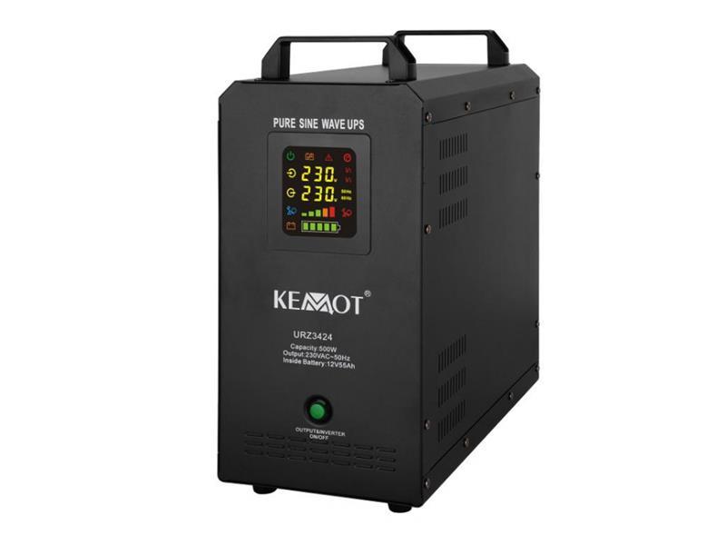 Zdroj záložný KEMOT URZ3424 PROsinus 500W 12V vstavaná batéria