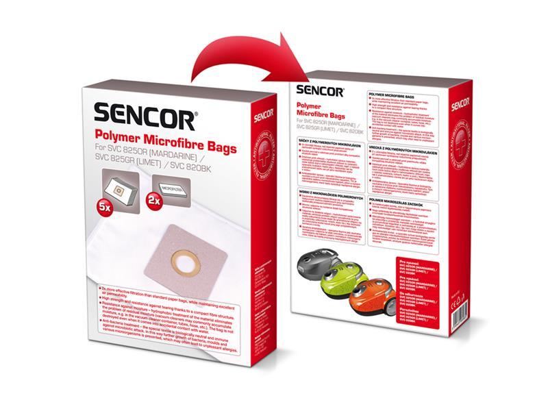 Vrecko SENCOR SVC 820BK / 825GR Micro 5ks do vysávača
