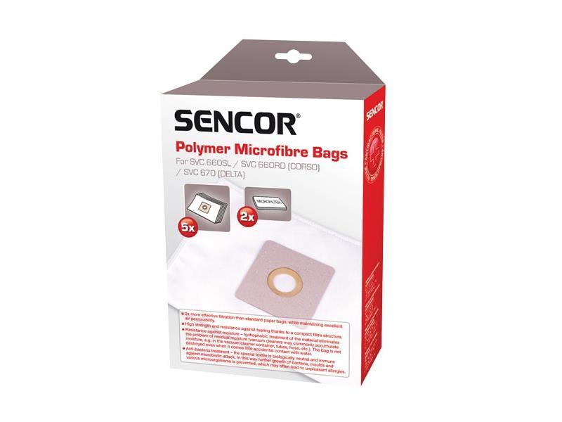 Vrecko SENCOR SVC 660/670 Micro 5ks do vysávača