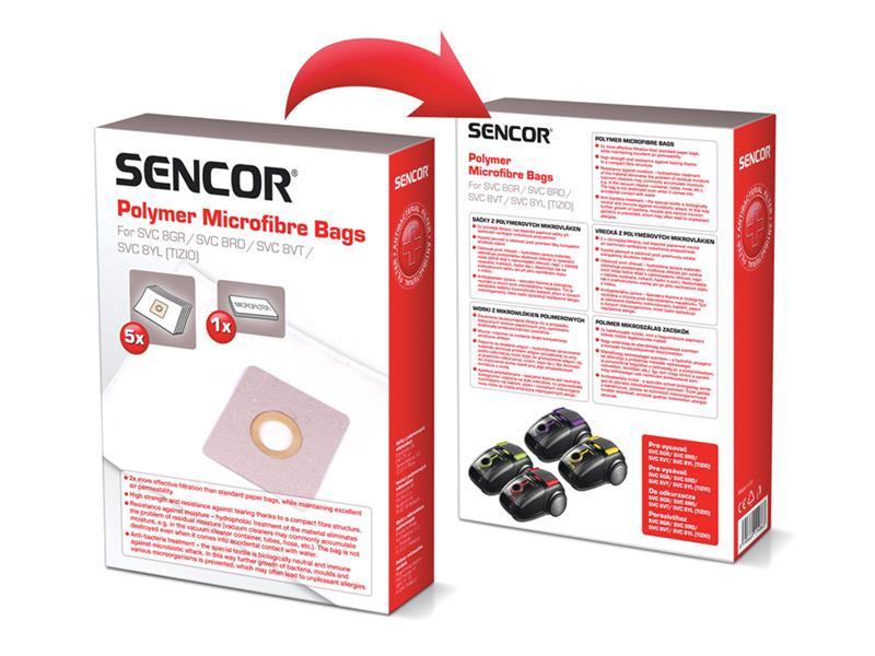 Sáčky do vysávača SENCOR SVC 8YL / VT Micro