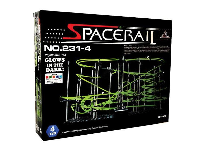 Stavebnice kuličkodráha Space Rail LEVEL 4 GLOW