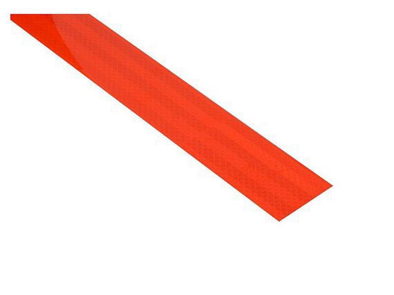 Reflexná páska samolepiaca 1m x 5cm červená COMPASS 01540