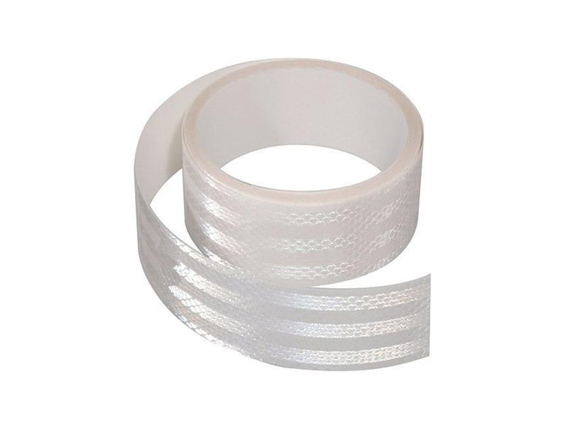 Reflexná páska samolepiaca 5m x 5cm bílá COMPASS 01542