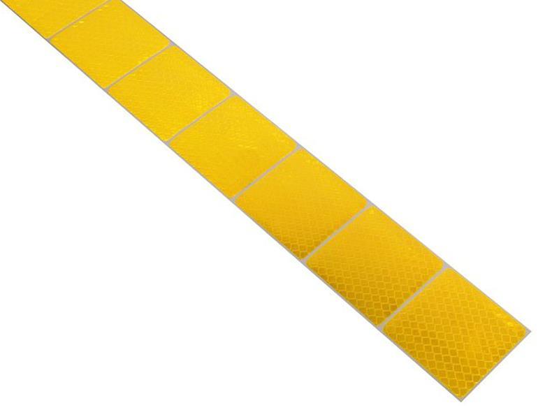 Reflexná páska samolepiaca delená 1m x 5cm žltá COMPASS 01544