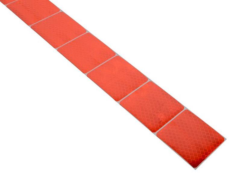 Reflexná páska samolepiaca delená 1m x 5cm červená COMPASS 01546
