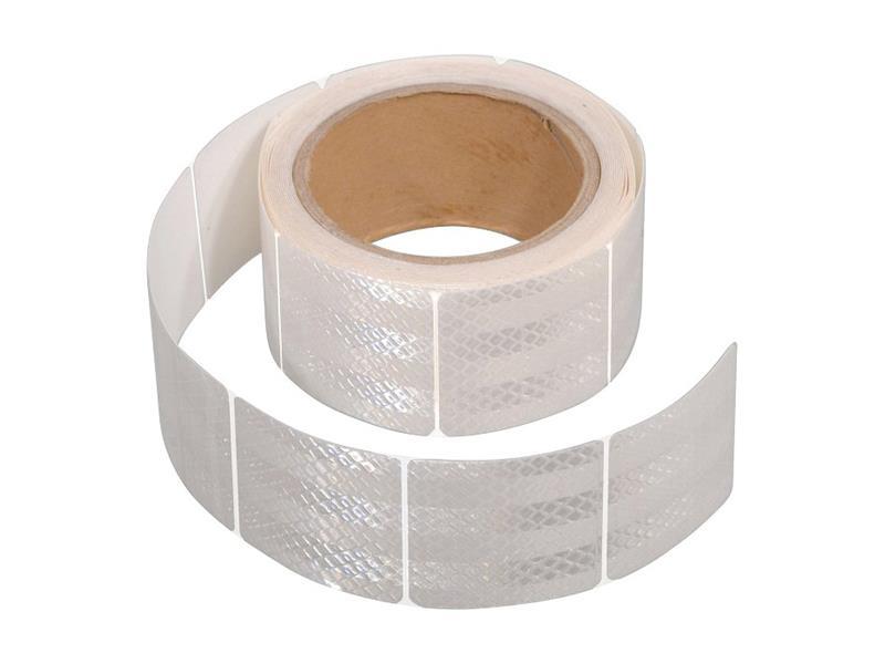 Reflexná páska samolepiaca delená 5m x 5cm biela COMPASS 01548