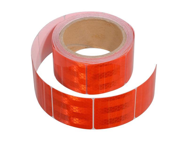 Reflexná páska samolepiaca delená 5m x 5cm červená COMPASS 01549