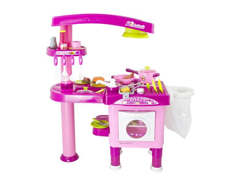 Kuchynka detská G21 veľká s príslušenstvom ružová