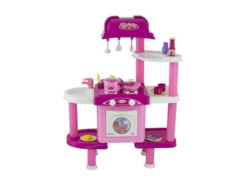 Kuchynka detská G21 s príslušenstvom ružová II
