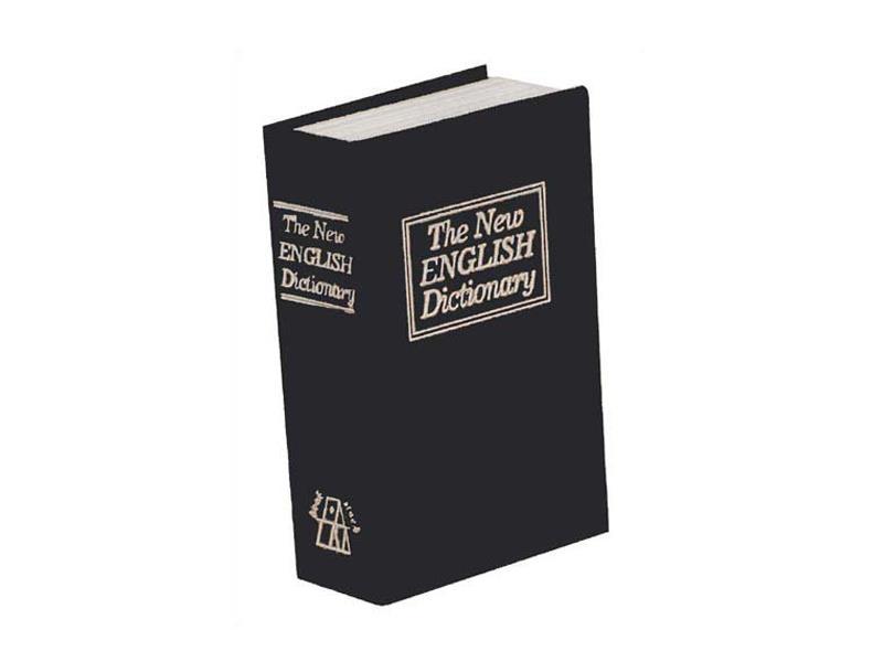 Trezor kniha 180 x 115 x 54 mm čierna