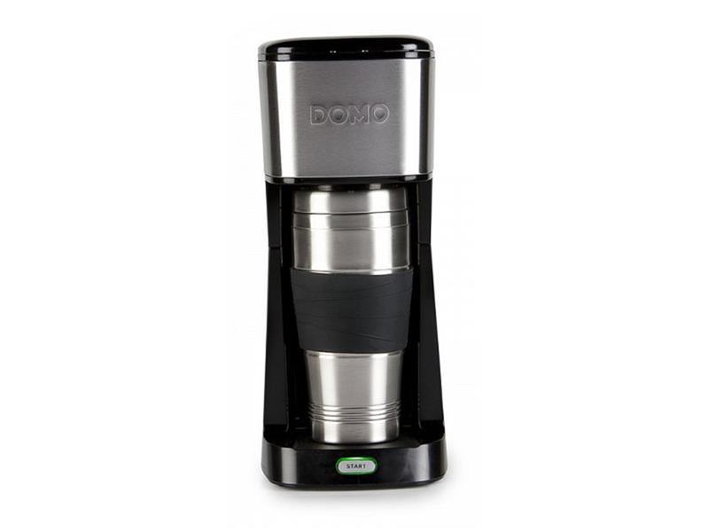Kávovar s termohrnčekom - čierny - DOMO DO437K