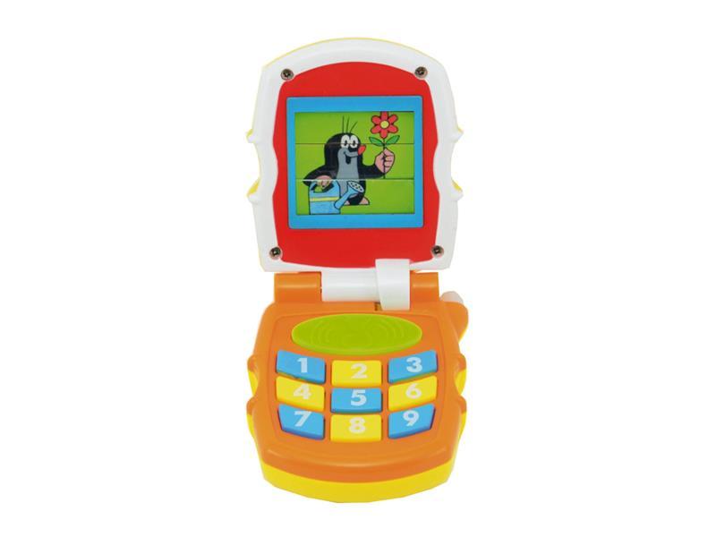 Telefón detský TEDDIES KRTEČEK so zvukom a svetlom